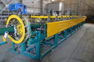 Автоматическая линия по производству профиля круглой трубы диаметром 150 мм. с фальцевым замком